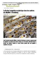 La fin des barquettes en plastique dans les cantines est décidée à Strasbourg