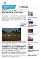 Plus de la moitié des Belges sont prêts à payer plus au profit des agriculteurs