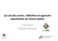 circuits courts au niveau wallon. Stéphane Winandy Diversiferm