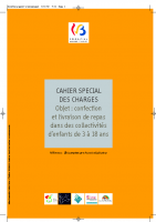 CAHIER SPECIAL DES CHARGES