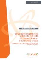 journee circuits courts economiques solidaires.12 janvier 2015 labo ESS (France)