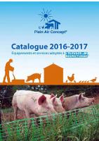 catalogue 2016-2017 Plein air Concept