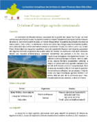 Création d'une régie agricole communale Mouans-Sartoux