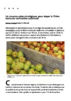 Un nouveau plan stratégique doper horticulture wallonie
