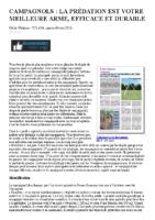 CAMPAGNOLS _ LA PRÉDATION EST VOTRE MEILLEURE ARME, EFFICACE ET DURABLE – A2C le site de l'agriculture de conservation