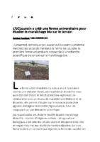 UCLouvain a créé une ferme universitaire pour étudier le maraîchage bio sur le terrain