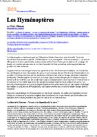 Description des Hyménoptères
