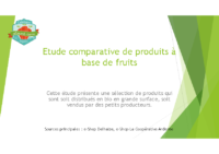 EtudeComparativeProduitsFruits