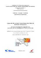 Légende de la Carte numérique des sols de Wallonie_V1_2005