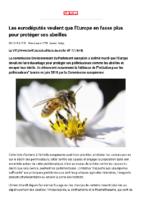 Les eurodéputés veulent que l'Europe en fasse plus pour protéger ses abeilles