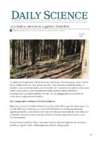 Le virtuel au service de la gestion forestière