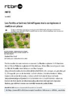 Les forêts urbaines bénéfiques mais complexes à mettre en place