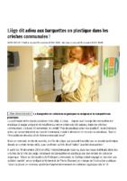 Liège dit adieu aux barquettes en plastique dans les crèches communales ! – La DH